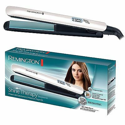 Remington S8500 Shine Therapy Ceramic Coated Argan Oil Hair Straightener New