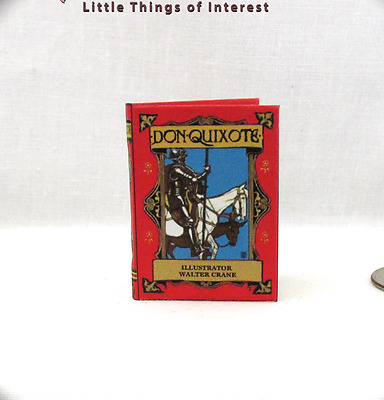 DON QUIXOTE 1:6 Scale Readable Book Miniature Illustrated By Walter Crane Play