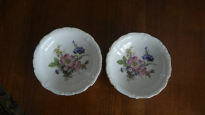 Set 2 Small Dishes Bowls Gloria Fine China Handwork Bayreuth West-Germany Floral