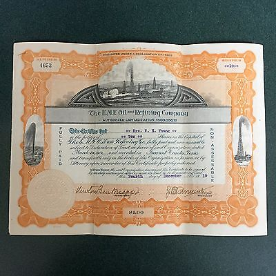 The E.M.F. Oil and Refining Company Stock Certificate from 1919