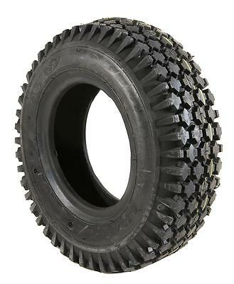 1 Black Air Filled Pneumatic Block Tread Mobility Scooter Tyre 410/350 x 6