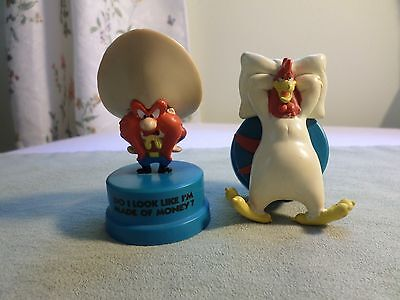 2 looney tunes T M warner bros applause 1994 yosemite sam & foghorn toy figurine
