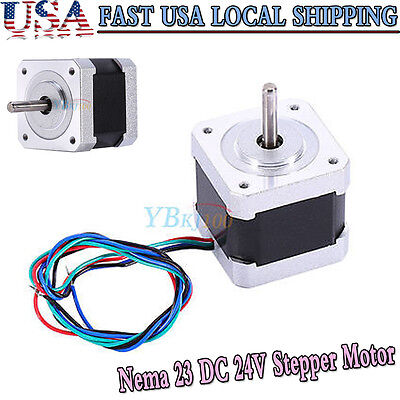 Nema 23 DC 24V 17 Stepper Motor Bipolar 2.8A 42mm 2 Phase 4-wire 3D Printer/CNC
