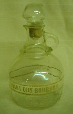 Canada Dry Bourbon Clear Glass With Gold Decanter (7431)