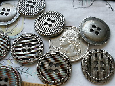 20MM METAL COAT Buttons Antique Silver color Shank Military