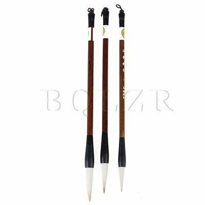 Excellent Chinese Calligraphy Kanji Japanese Sumi Drawing Brush Set of 3