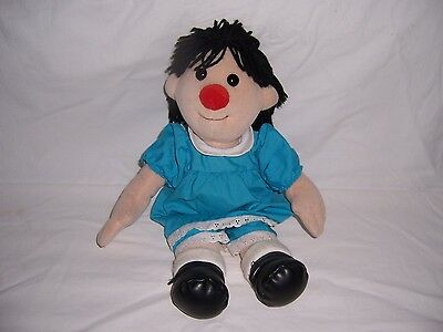"""The Big Comfy Couch MOLLY 17"""" Plush Clown Doll 1995 Commonwealth Toy Clean"""