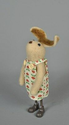 Quirky freestanding Rabbit Farmers Felt material wife decoration with