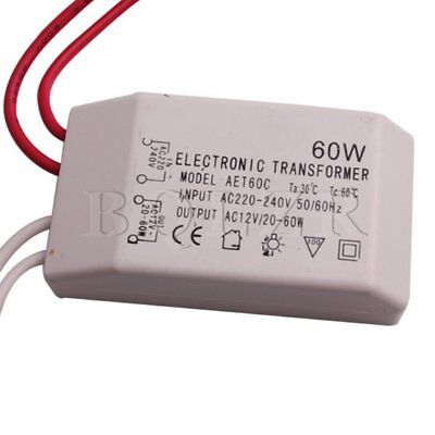New 60W Electronic Transformer For Low Voltage 12V Lamp Bead Blub 220-240V