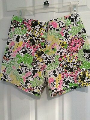 """Vintage Lilly Pulitzer """"The Lilly"""" Sportswear Division Mickey Mouse Shorts"""
