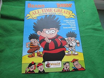 Beano and Dandy All Time Greats - Sticker Album 1994