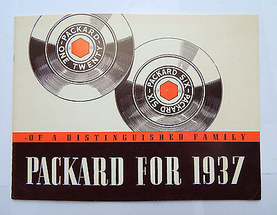 Pakcard 120 and The Packard Six for 1937 Catalog/Brochure