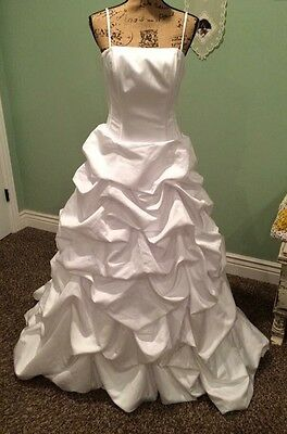 Ball Gown Wedding/Prom Dress, white, size 8 from David's Bridal.