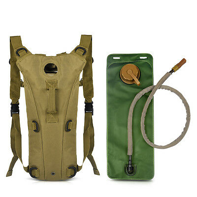 US Hydration Pack with 3L Bladder Water Bag for Hunting Climbing Running Hiking