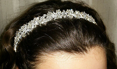 Bridal Princess  Crystal Hair Tiara Wedding Crown Headband