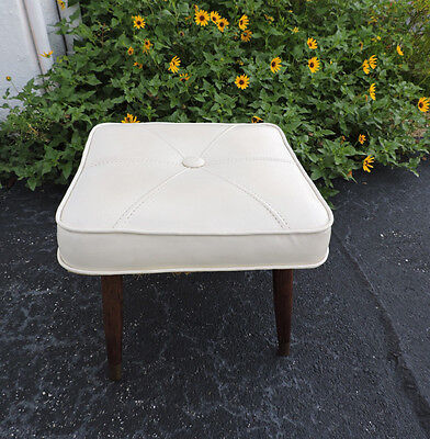 Small MCM Mid Century Footstool with Tapered Legs  7876