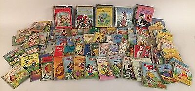 HUGE Vintage Little Golden Book Lot of 124 First Sesame Disney Christmas Jesus