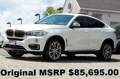"2016 BMW X6 xDrive 50i xLine 2016 xLine PKG Executive PKG 20"" Wheels Alpine White Auto AWD Like New Perfect"