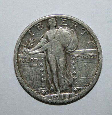 1918 S Standing Liberty Quarter   Ds20