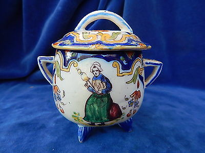 FAIENCE PETITE MARMITE / Little cooking pot - ROUEN - VICHY - SUPERBE / Superb !