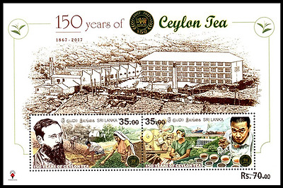 150 YEARS OF CEYLON TEA Sri Lanka 2017  Souvenir Sheet