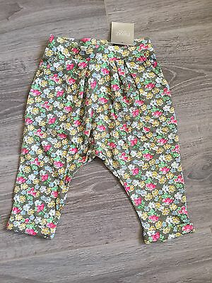 Next Baby Girls Floral Patterned Trousers - 6-9 Months - Tags On