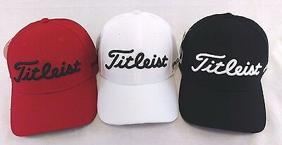 Titleist Dobby Tech Men s Golf Cap Hat NEW 2017 Fitted Red White Black ecec741ce4b2
