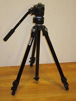 Bogen Manfrotto 3021BN Video Camera Pro Photography Tripod 3063 Fluid Head Mount