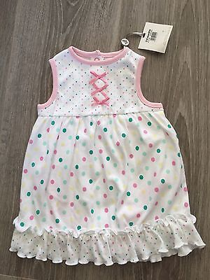 M&Co Spotty Baby Girls Dress/ Top - 3-6 Months - Tags On