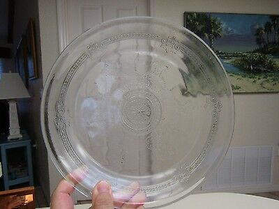 Vintage Philbe Clear Pattern Fire King Oven Pie Plate Dish, 1941 - 1956