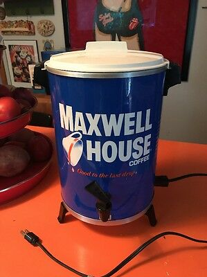 Vintage Maxwell House 30 Cup West Bend Coffee Pot Maker Percolator