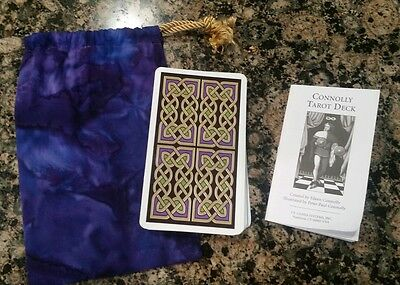 Connolly Tarot deck - Complete With Instructions and Pouch 78 cards fortune
