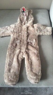 Ted Baker Fux Fur Snowsuit 6-9 Months