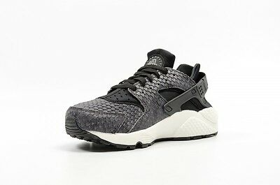 d069b4da6428 NEW 683818 013 Women s Nike Air Huarache Run Prm Shoe !! Black black ...