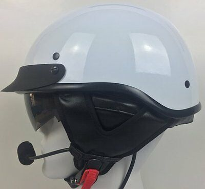 D.O.T Half Helmet with J&M 801 Stereo Headset (Harley Davidson, GoldWing or BMW)
