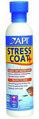 API Stress Coat 237ml Tap Water Conditioner Fish Tank Dechlorinator