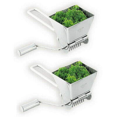 2PK Avanti Lifestyle Rotary Herb Mill Stainless Steel Cutter/Grinder/Chopper