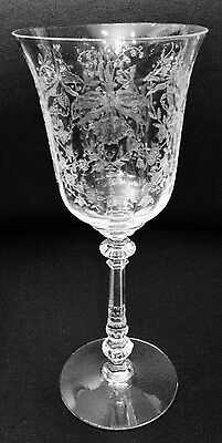 Heisey Orchid Water Goblet Etched 5025 Stemware FREE SHIPPING