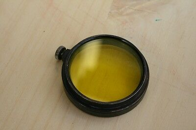 Leitz (Leica) Vintage Yellow 2 Filter | Germany | Early Black Paint | Clamp Type