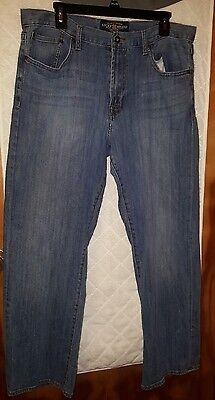 LUCKY BRAND MEN'S RELAXED STRAIGHT LIGHT WASH DENIM JEANS SIZE 34 x 30