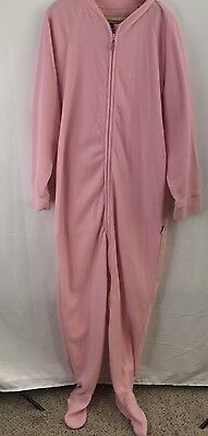 Jumpin Jammerz  Adult Women's Med. Footed Hoodie Pajamas One-piece Pink