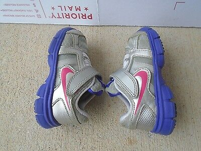 Baby Girls' Nike Shoes,silver -size 5c
