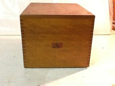 Antique Vintage Wood WEIS Index Library File Recipe Box Oak Holds 4x6
