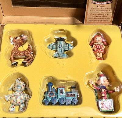 2007 Jim Shore Christmas Rudolph and Misfit Toys Ornament Collection NIB