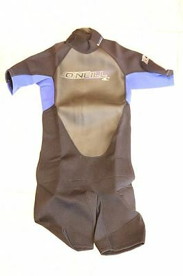 O'Neill Wetsuits Youth Reactor 2mm Spring Suit - 12 - Black/Pacific/Black