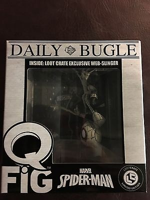 Loot Crate Exclusive Spider-Man Q-Fig Web-Slinger Daily Bugle