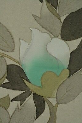 Hanging Scroll Peony Japanese Painting Asian Art ink Picture Antique Japan a171