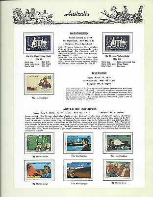 1976 Australia 'The Collection of 1976 Australian Stamps' Complete Set:MUH