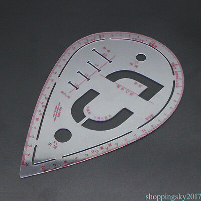 Water Drop Shape Plastic Sewing Patchwork Cloth Drawing Making Curve Ruler GB7