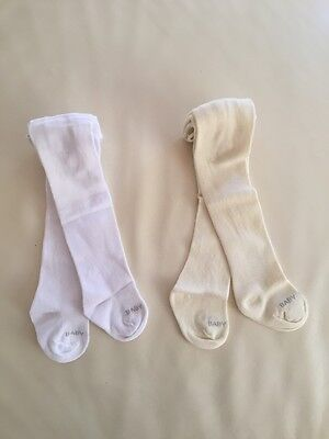 NEW Baby Girl Sock Tights Stocking, Cream, White , size 00, 3-6 months